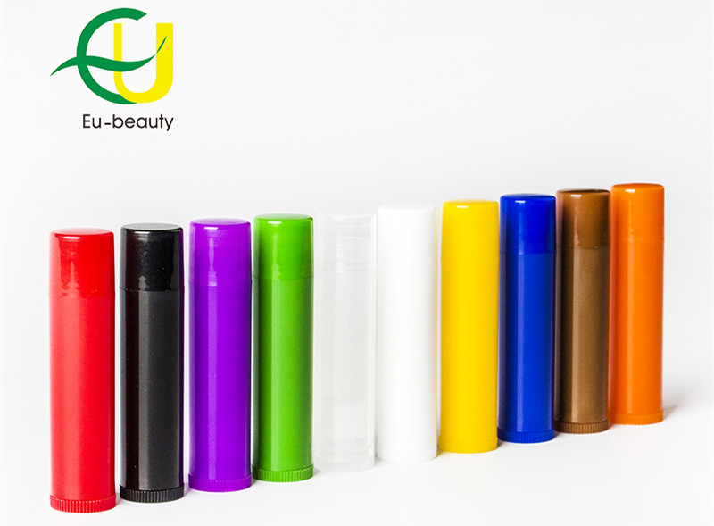 5g empty colorful lip balm tube cylinder shape lipstick container