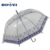 High quality custom print POE material clear transparent umbrella for women