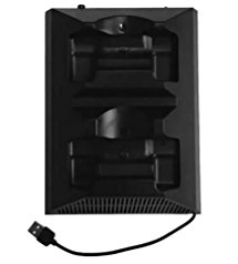 K&A Company Cooling Controller Fan Charging Ps4 Stand Dock Vertical Station Dual Usb Slim 2 Charger Pro 4 Xbox One Cooler in Black