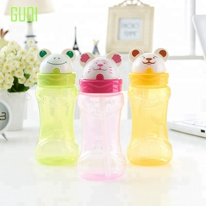 Hot design baby water cup with animal shape lid easy to open and close high quality baby trainer sippy cup