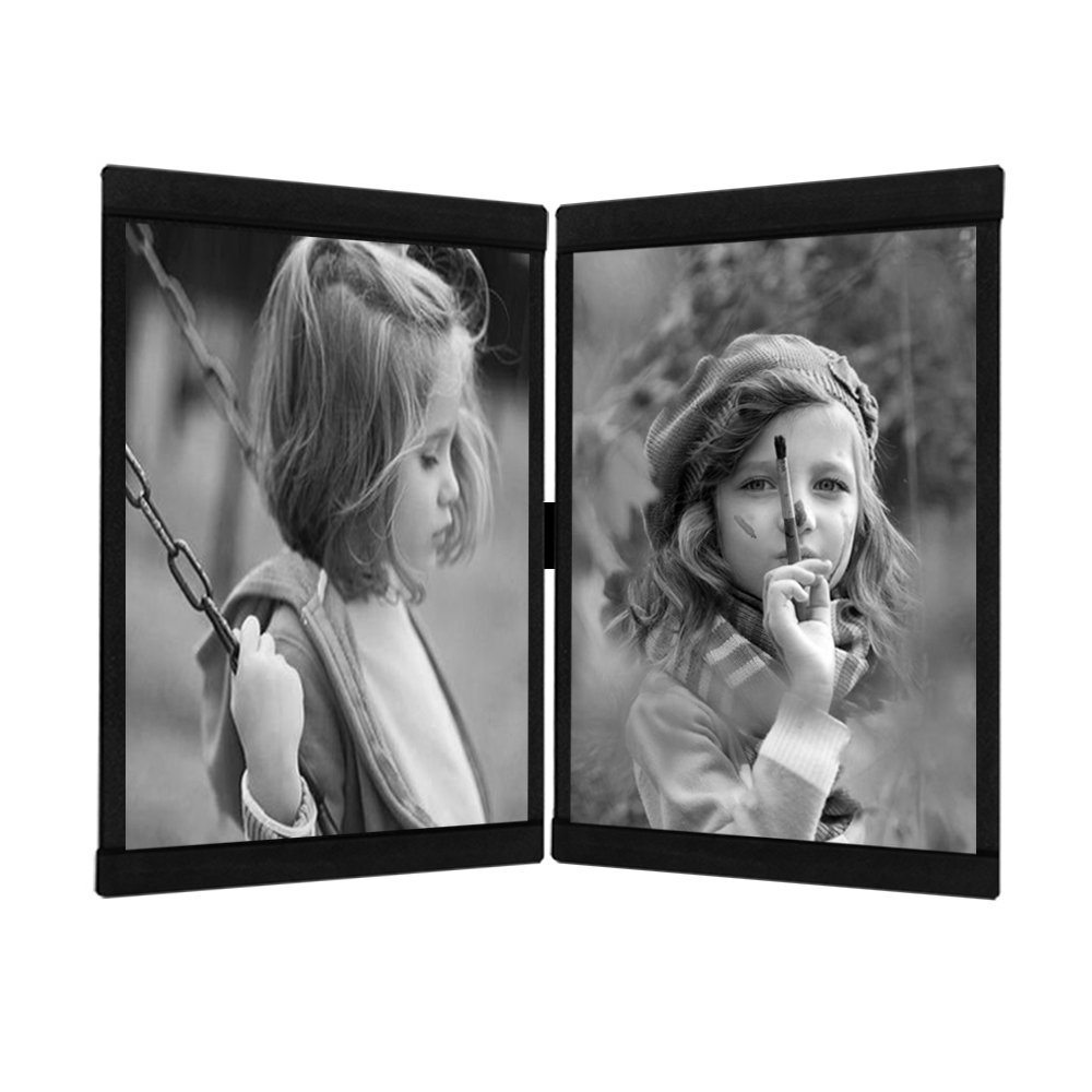 Leggy Horse Photo Frame Set Flexible Transparent Acrylic, Detachable Frames to Easily Change the Shape Wall Photo Frame Set (4 x 6 Inch Set of 2 Black)