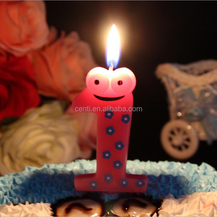Cartone animato rana memorial numeri arabi buon compleanno candela