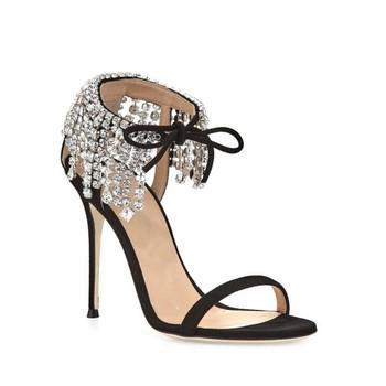 Nupcial Zapatos Sandalias Fiesta Mujer Damas Sandalia Diamantes Imitación 2017 Cristal Verano De Alto Tacón Calzado Con UpMzSGqV