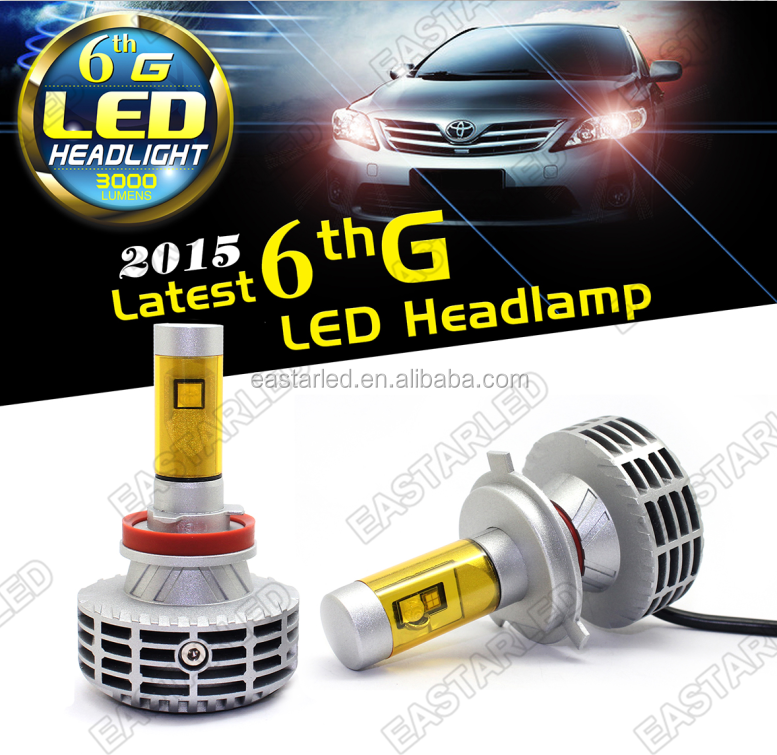 car led light 6G H13W brand chip hi&lo beam