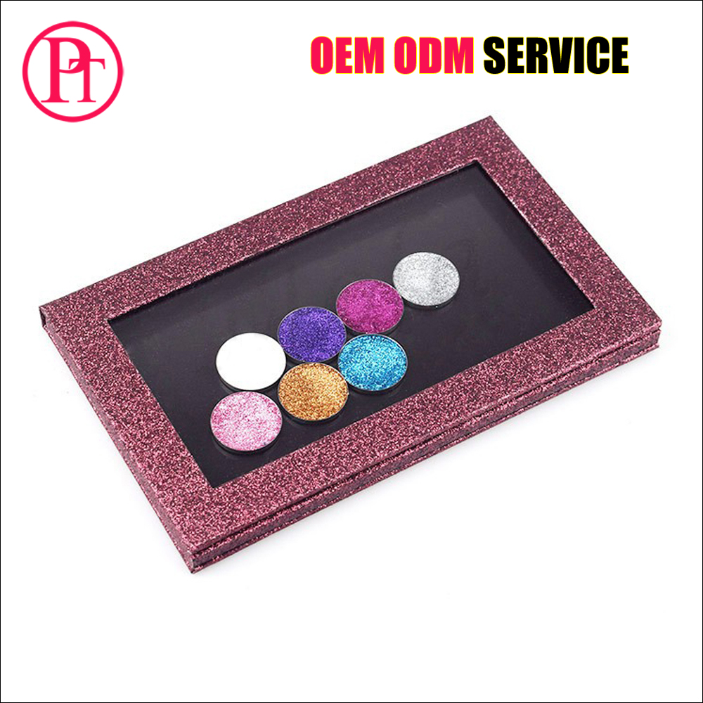 2018 Chinese factory price Glitter 7 color makeup eyeshadow palette custom your own logo