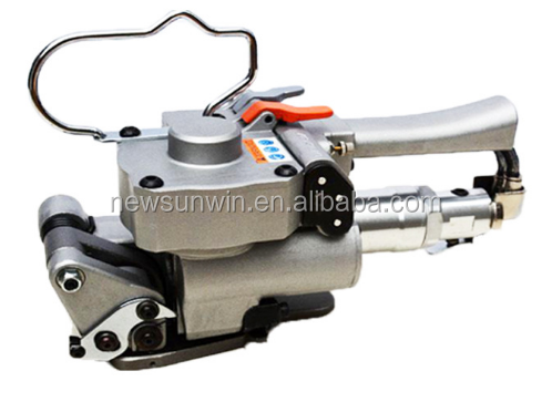 Special power offer manual pneumatic baling press machine, pneumatic steel band strapping tool.