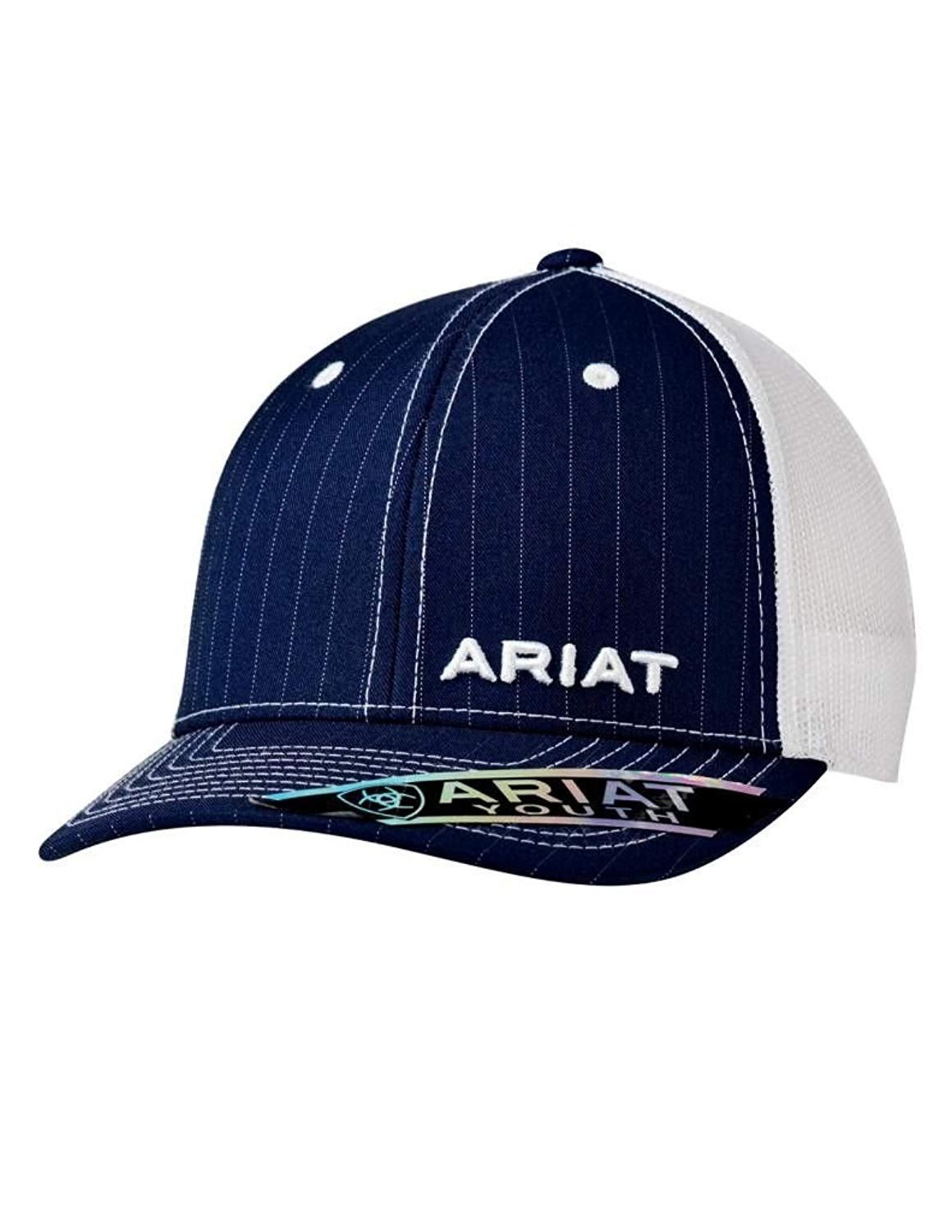 0563ae0ed4eb2 Get Quotations · Ariat Kid s Youth Offset Pinstripe Cap