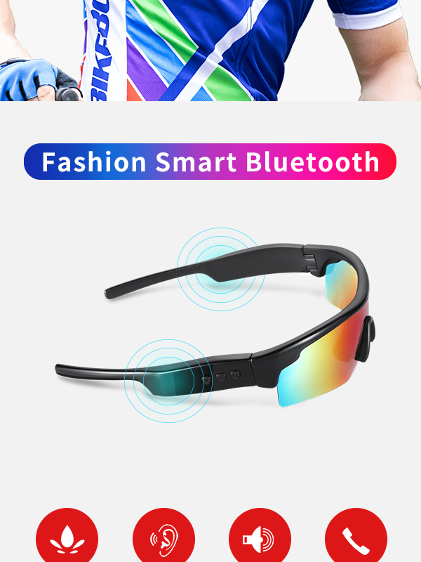Sports UV400 Polarized Speaker Music Wireless Bluetooth Earphone Headset Sunglasses