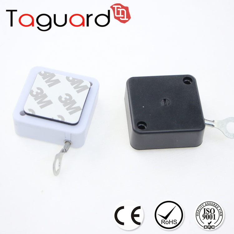 High Quality retractable anti-theft pull box with steel wire cable for small items