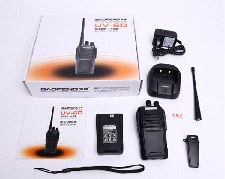 BAOFENG UV6D Two Way Ham Radio Dual Band 400-480MHZ UHF 128CH Walkie Talkie