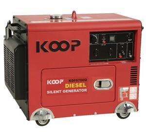 4 5kVA 5 0kVA 5KW 6KW 50HZ 220V Silent Diesel Generator 1-Cylinder  Air-cooled KOOP KDF6700Q-3 (3-phase)