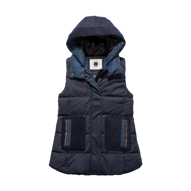 Fashion Women Vest Jacket Ladies hooded Sleeveless Duck Down Winter Vest
