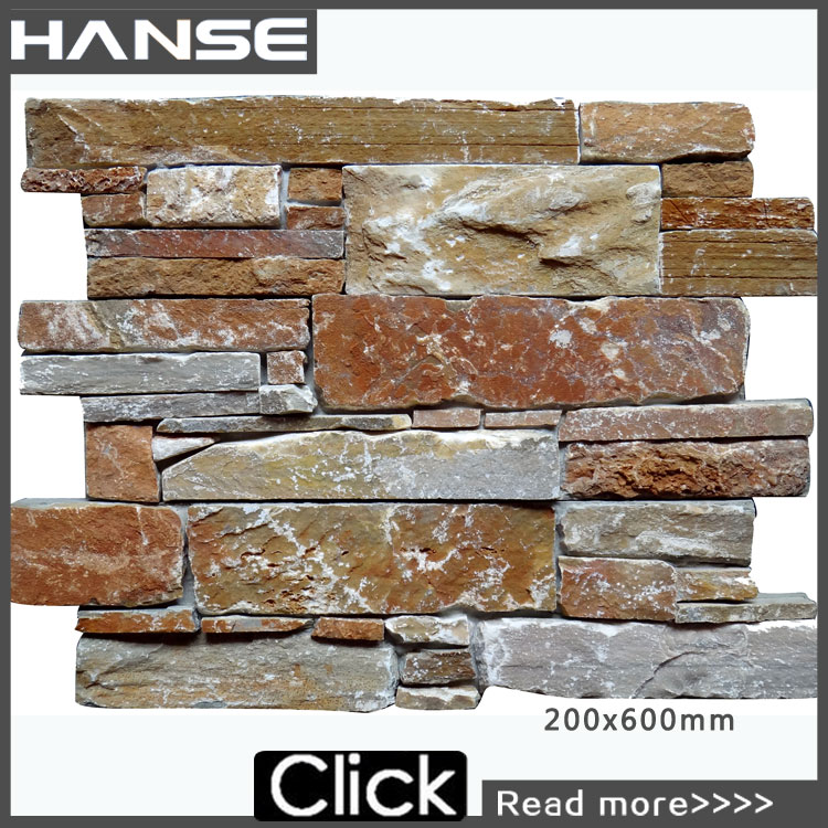 HS-SN002 lowest price ledge stone panel stone decor cement board