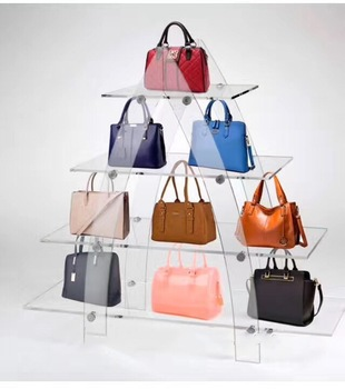 Exquisite Design Acrylic Handbag Display Rack For Retail