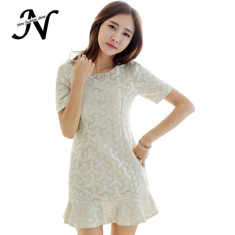 16ef243d607 Get Quotations · New Arrivals Ladies Summer Dress 2015 Korean Summer Style  Lace Fashion Cute Elegant Short Sleeve Womens