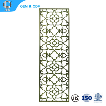 Outdoor Movable Parion Decorative Metal Portable Garden Privacy Screen Dividers
