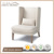 Leisure soft comfortable chairs for Home Bar Cafe Shops with Simple shape Lounge chairs