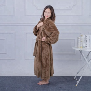 Special design cheap brown ladies down robes for famaily