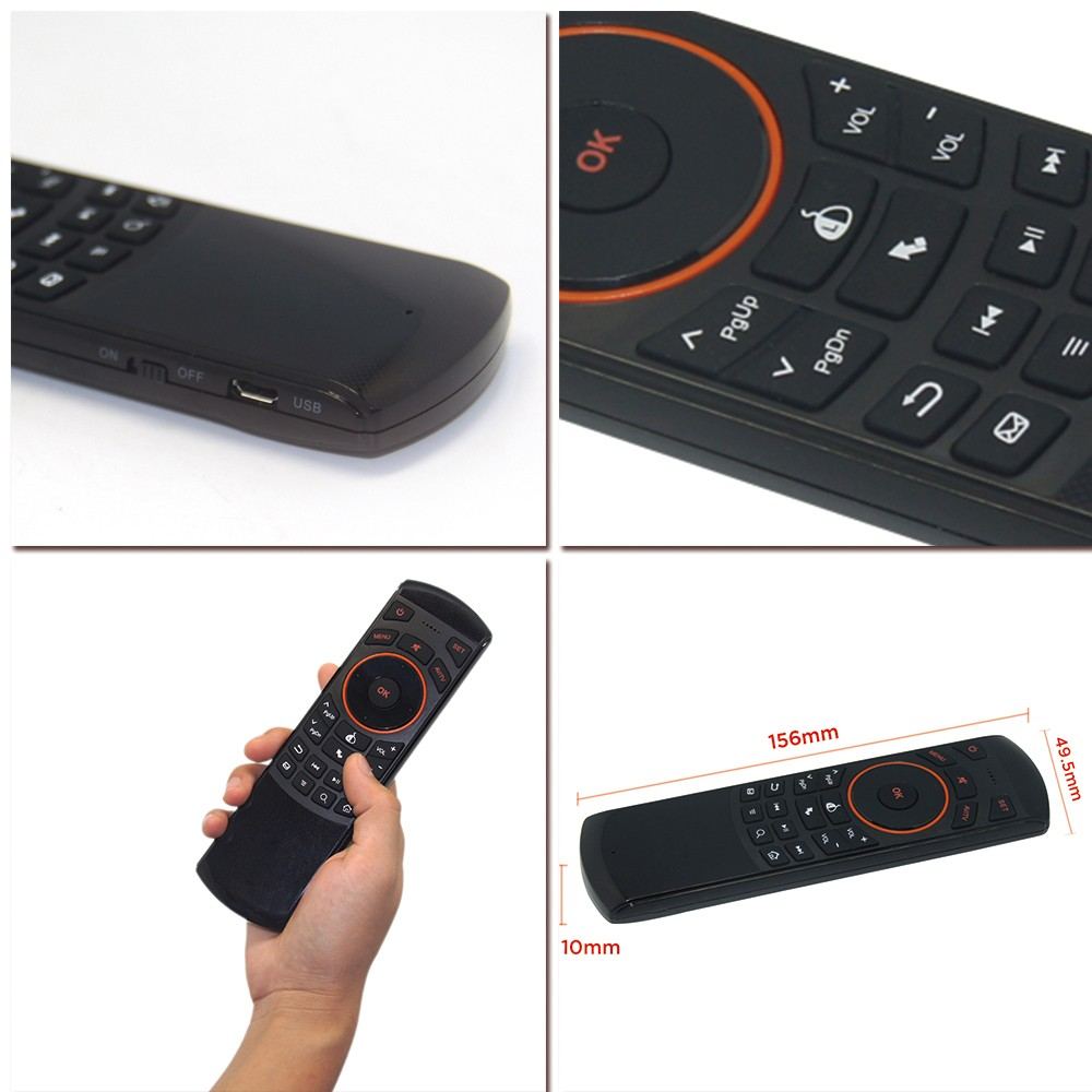 284060cdd5d IR Remote Control 2.4G Air Mouse Mini Wireless Keyboard for Sony Smart TV