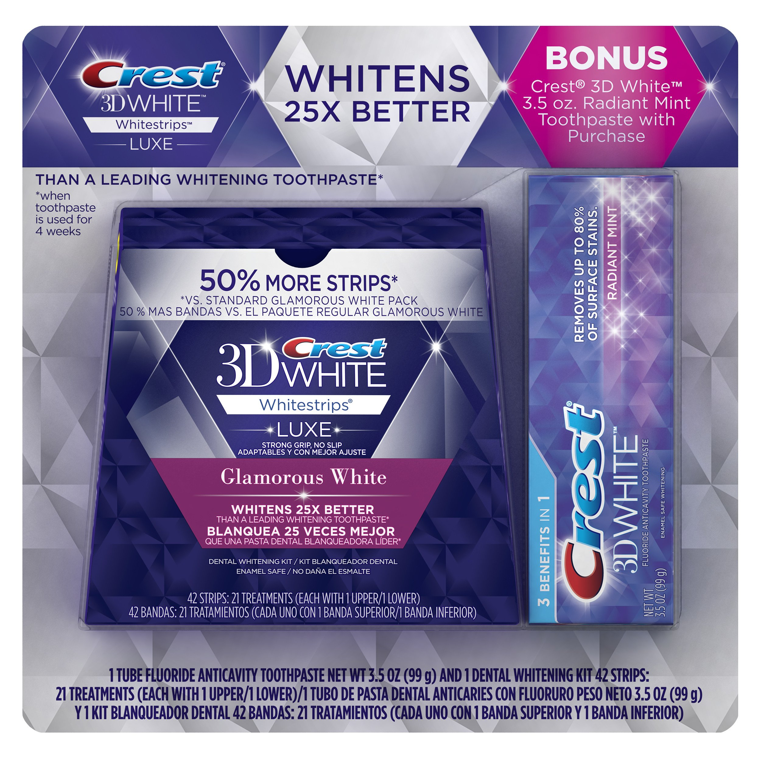 Buy Crest 3d White Luxe Whitestrips Dental Teeth Whitening Strips