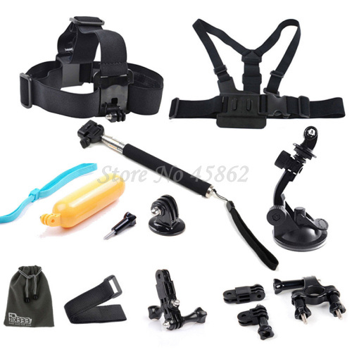 Gopro Accessories Kit For Gopro HD Hero 3+3 2 1,Flo Chest Head Aty Mount