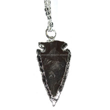 Silver Electroplated Agate Arrowheads Buy Agate Export
