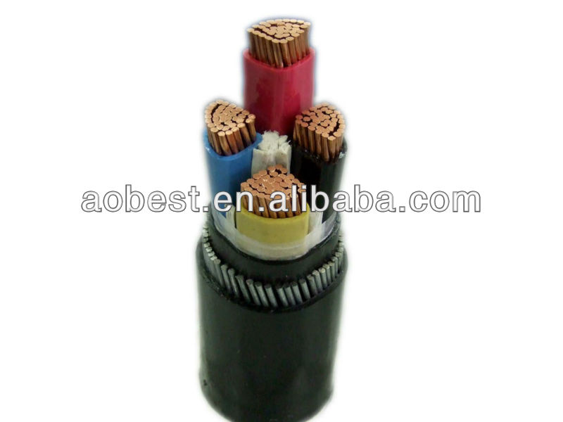 3 cores 150 mm2 8.7/10kv YJV22 power cable