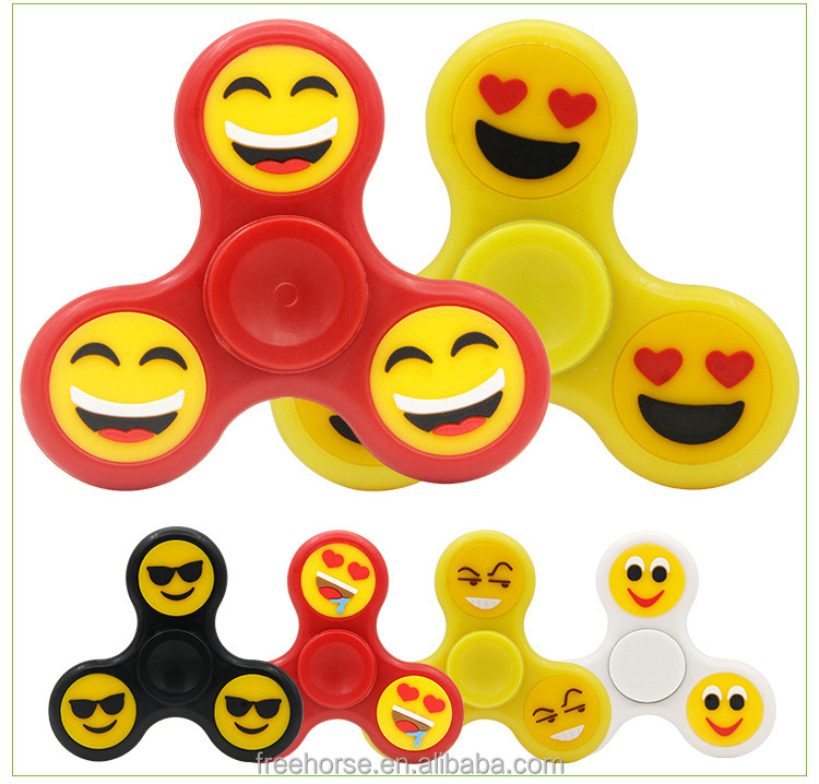 2017 hot products high quality Night Lights emoji hand spinner