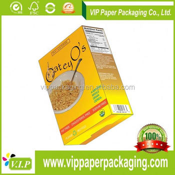 Factory Paper Cereal Bar Packaging