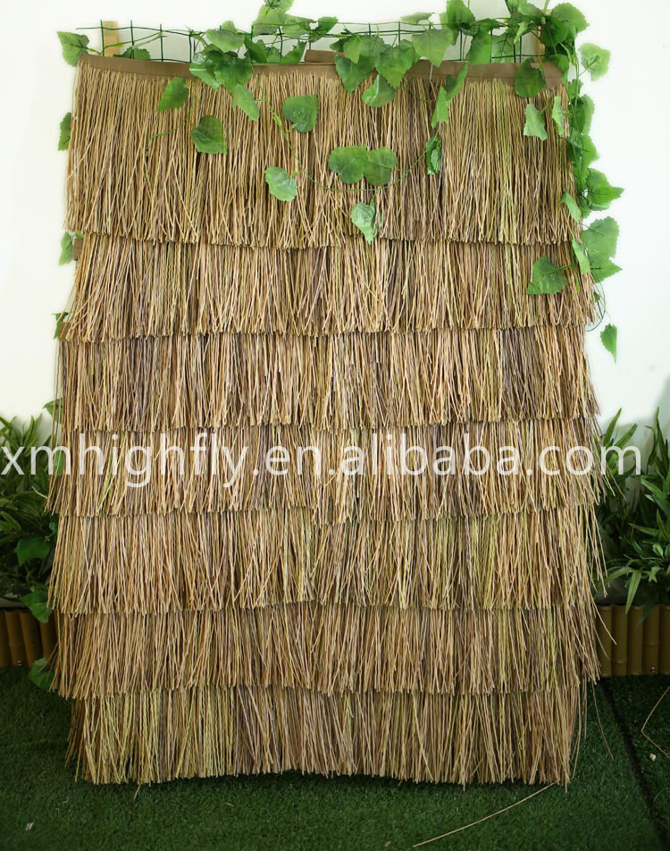Fireproof cheap artificial thatch roofing,synthetic thatch roofing
