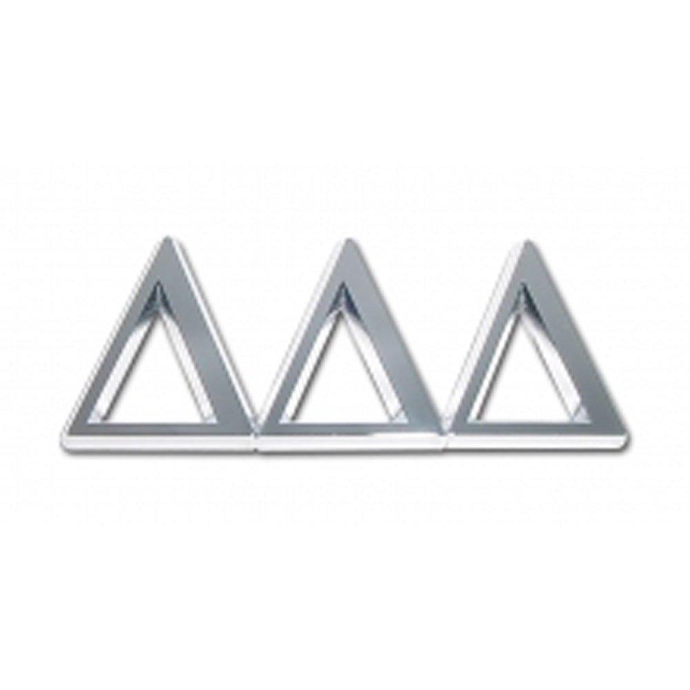 Delta Delta Delta Sorority Chrome Auto Emblem
