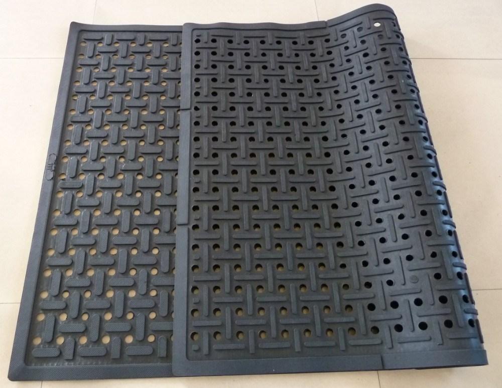 Oil Resistant Anti Slip Rubber Mat Anti Bacterial
