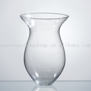 home decor big bulb wine glass flower vase