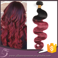 Good Looking Touching great 8A Grade Virgin Brazilian Ombre Hair Weaves