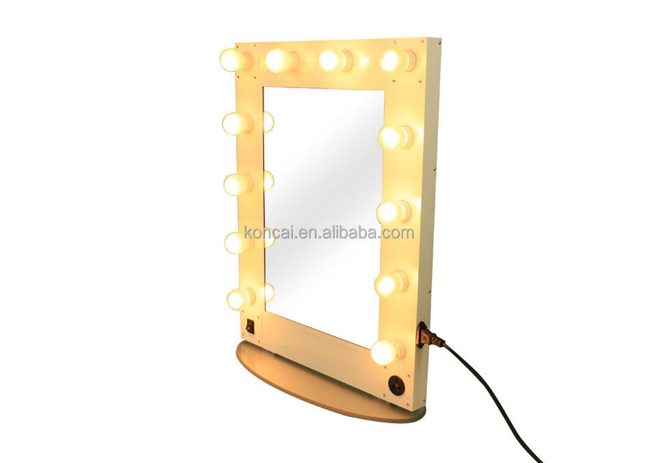 Professional LED Mirror Beauty Salon Mirror/aluminum Salon Lighted Mirror/Aluminum  Stand Table Mirror