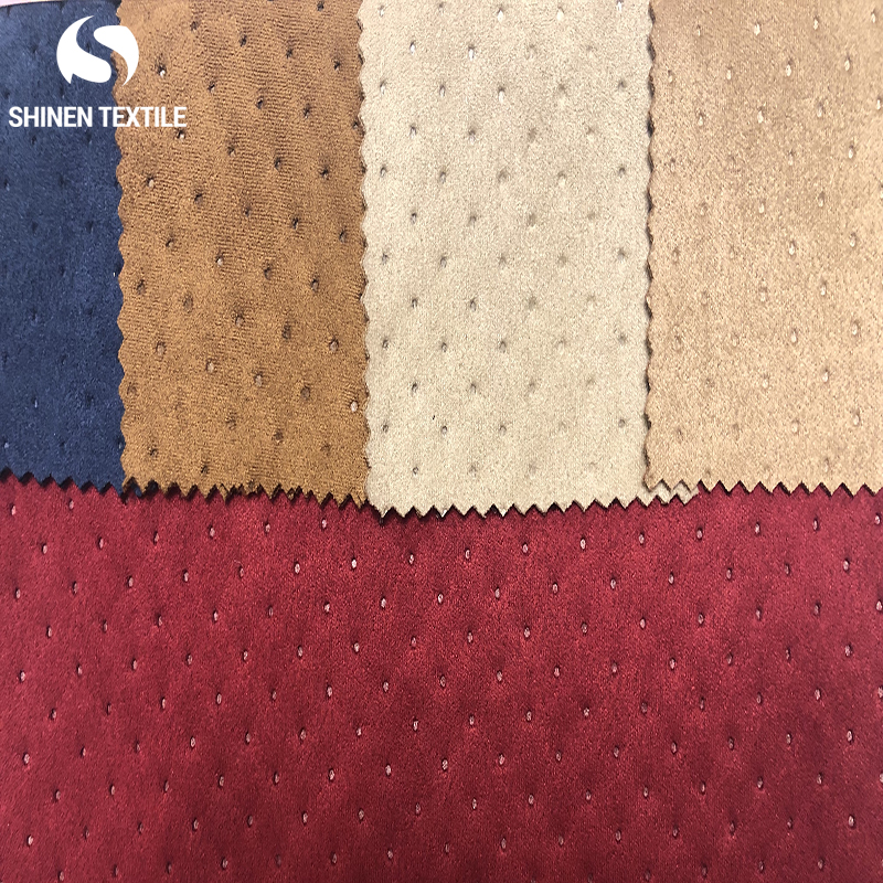 2019 wholesale Embossed faux knitted suede fabric car wrapping
