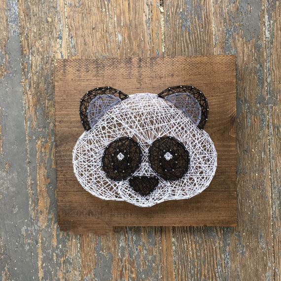 Стринг арт шаблоны панда, улыбка поцелуй открытки