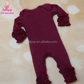 ab5f2172a Hot Selling Newborn Baby Clothes Fall Soft Cotton Ruffle Icing ...