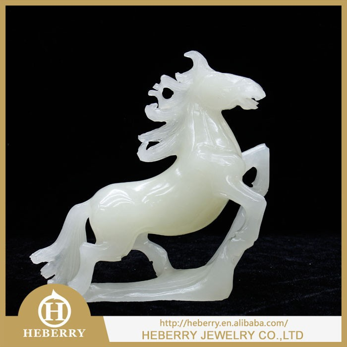 hot sale 100% natural quartz crystal horse healing carved quartz crystal statue as gift