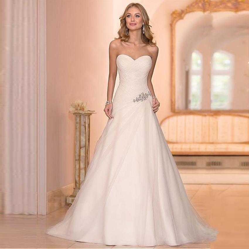 Cheap Wedding Gowns Com: Beaded Cheap Organza Beach Wedding Dresses China Ball Gown