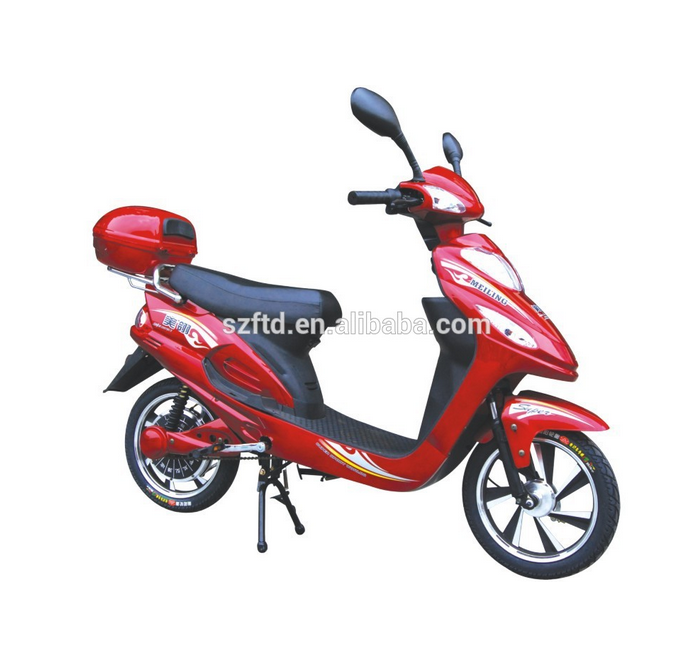 hot selling 350 w cheap electric scooter with a rear trunk for 2 people