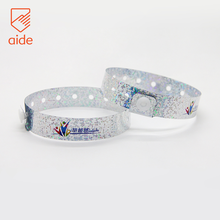 Customized Glow In The Dark ID Plastic Holographic Wristband For Events