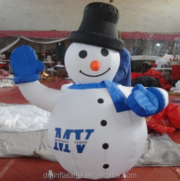 air blown giant inflatable christmas snowman for decoration