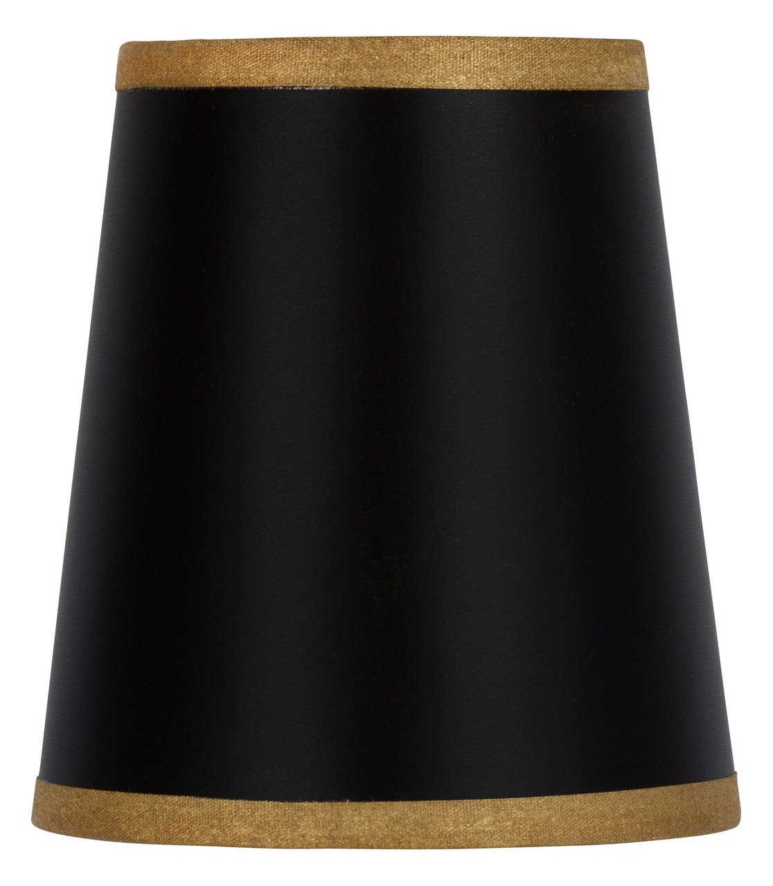Upgradelights Black 4 Inch Chandelier Shade Wall Sconce Barrel Drum Gold Trim 3x4x4.5