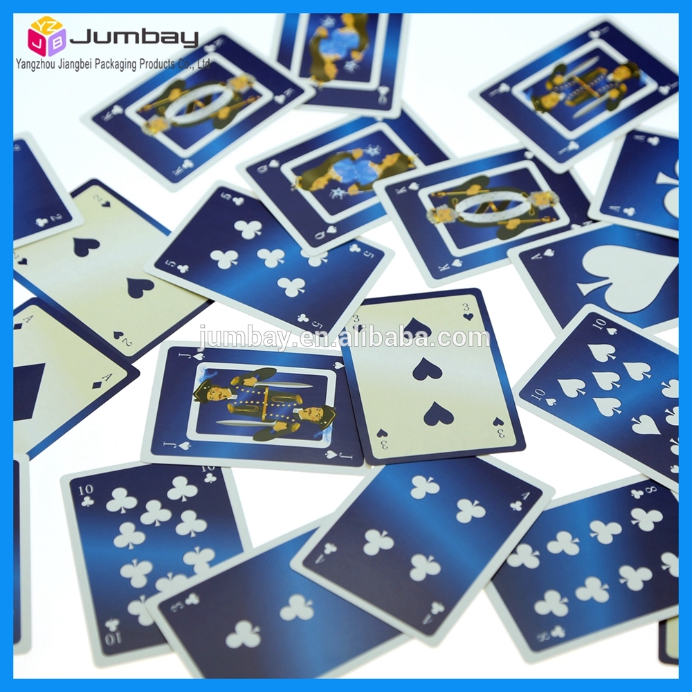 32 french paper playing cards game with client'