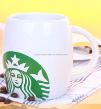 printed porcelain beer drinkware decal barrel ceramic mug Starbuck barrel mug