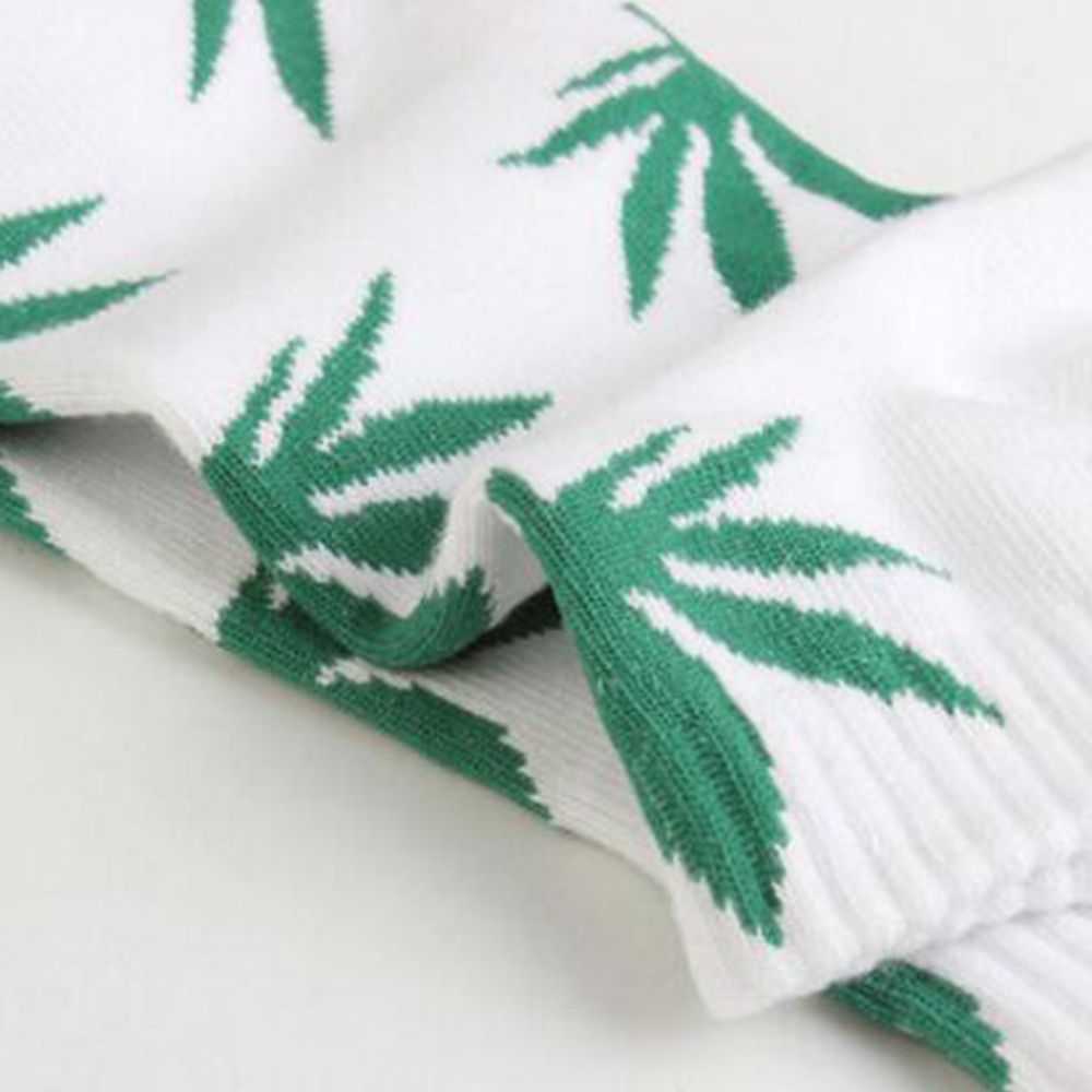 New Hot Sale 100% Cotton Maple Leaf Sock For Holiday Socks