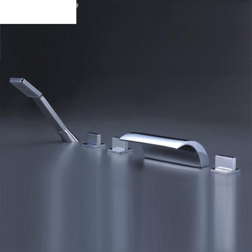 five-piece bath mixer/Five-hole along the sat taps/Simple bathroom shower-A