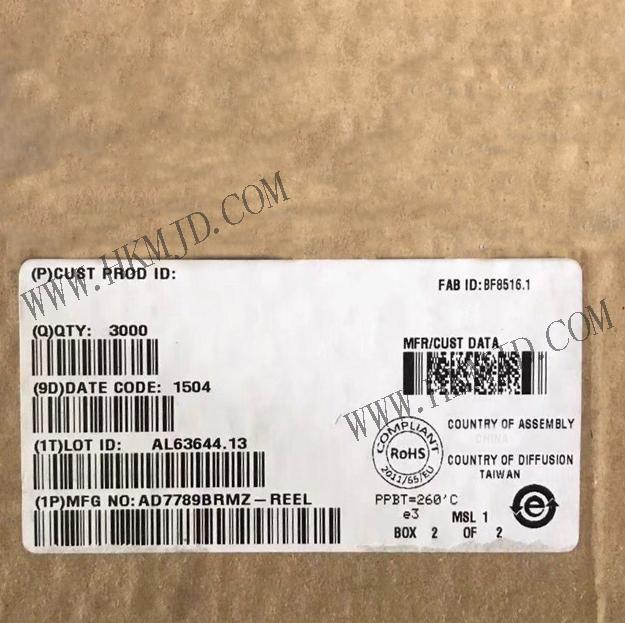 Shenzhen Mingjiada Electronics Co , Ltd : AD7789BRMZ-REEL