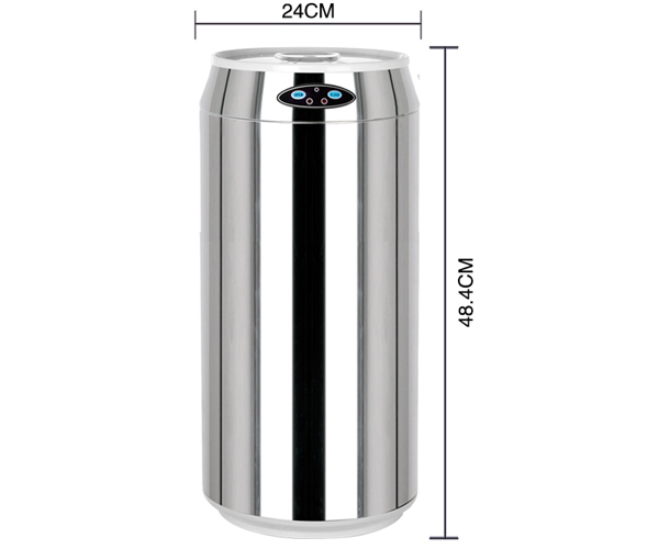 12l coke shape automatic motion sensor stainless steel kitchen
